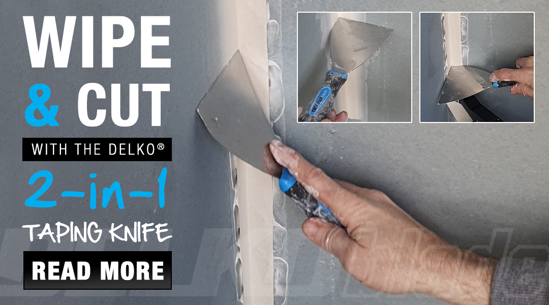 Delko Tools 2-in-1 Drywall Taping Knife